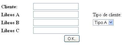 Formulario de ingreso de datos