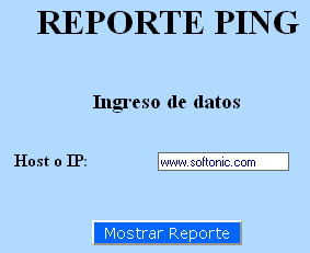 Reporte Ping