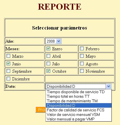 Formulario para Reportes del SLA