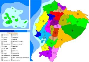 Mapa político de Ecuador (clic en la imagen para ampliar)