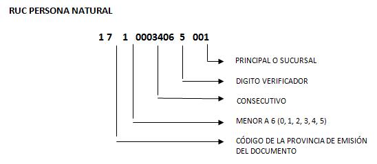 Estructura del RUC de persona natural